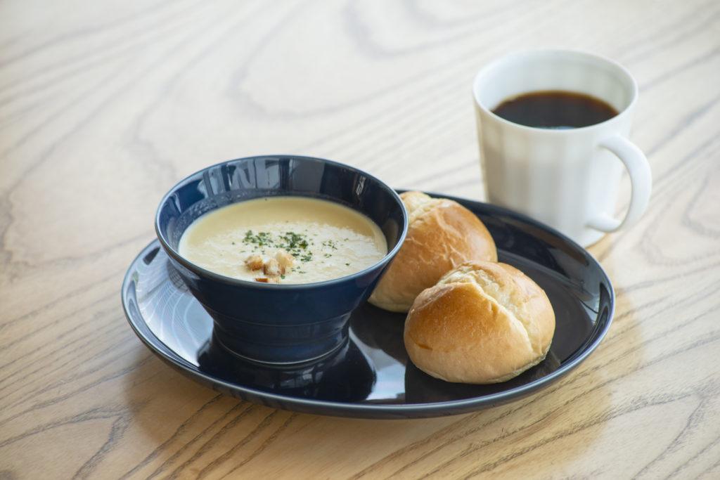 コテカフェ特製!食べるスープのモーニングセット