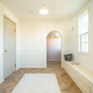 施工事例 インテリアもシャビーシックな雰囲気で統一 tomioの家