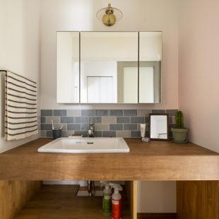 施工事例 洗面室 tomioの家