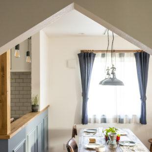 施工事例 三角垂れ壁  tomioの家
