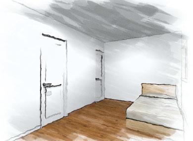 洋室:新築完成見学会 千葉の注文住宅 トミオ